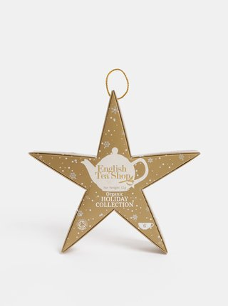 Vianočná čajová kolekcia v zlatej farbe English Tea Shop Hviezda
