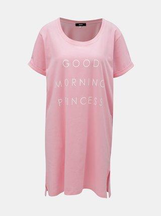 Camasa de noapte roz cu imprimeu ZOOT
