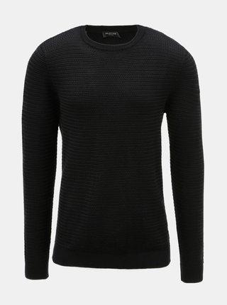 Pulover negru cu model Selected Homme