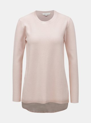 Růžový svetr s halenkovou vsadkou Apricot
