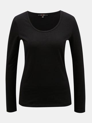 Čierne basic tričko s dlhým rukávom Yest