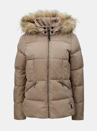 Jacheta bej matlasata de iarna cu blana artificiala VERO MODA Wonderland
