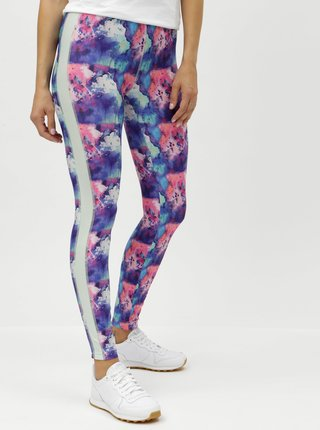 Leggings roz-albastru cu model Noisy May