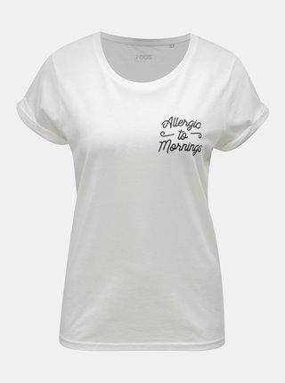 Bílé dámské tričko s potiskem ZOOT Original Allergic to mornings