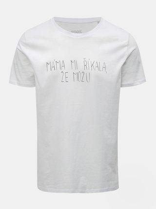 Bílé pánské tričko s potiskem ZOOT Original Máma mi říkala