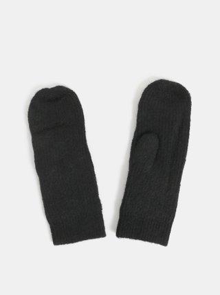 Manusi negre cu amestec de lana alpaca Pieces