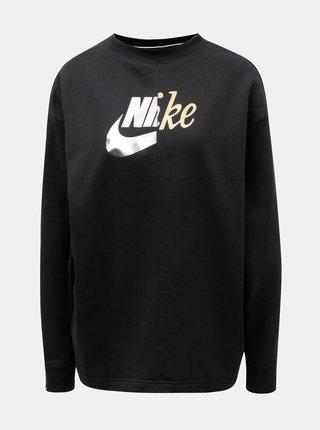 Čierna dámska loose fit oversize mikina Nike