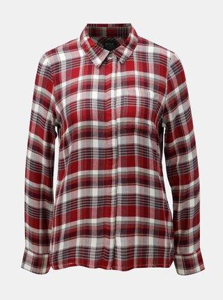 Bílo-červená kostkovaná košile ONLY