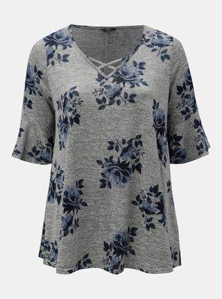 Tricou gri floral M&Co Plus