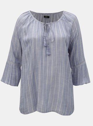 Bluza albastru deschis in dungi M&Co Plus