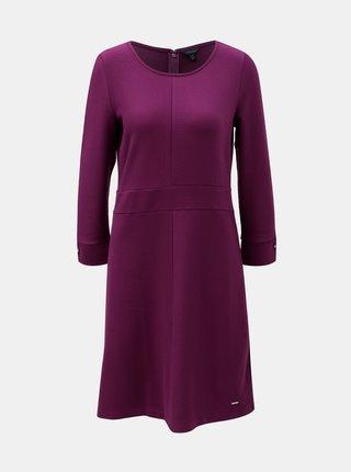 Fialové šaty s dlouhým rukávem Nautica