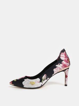 Pantofi roz-negru floral Ted Baker