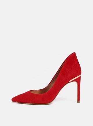 Pantofi rosii din piele intoarsa Ted Baker Savio