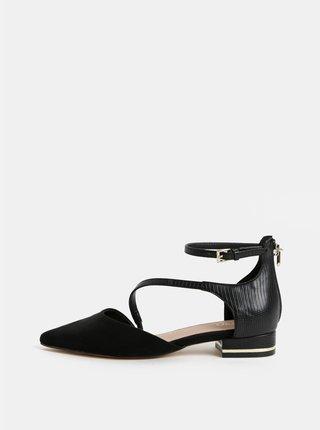 Čierne sandálky s detailmi v semišovej úprave ALDO Acemma