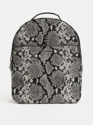 Krémovo–čierny batoh s hadím vzorom ALDO