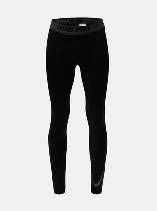 Leggings termoizolatori barbatesti negri Nike Therma