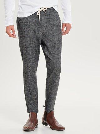 Pantaloni gri inchis in carouri ONLY & SONS Linus