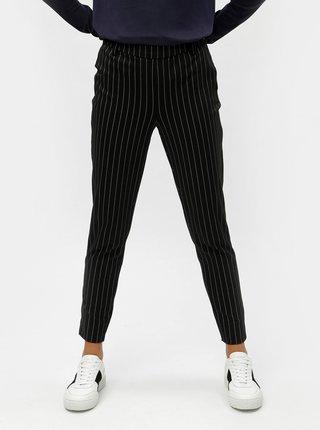 1b1d0c6681 Čierne skrátené pruhované nohavice VERO MODA Hella