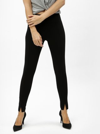 Pantaloni crop negri MISSGUIDED