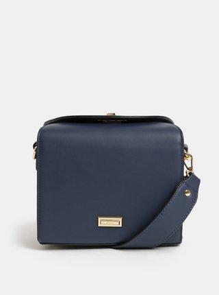Tmavě modrá crossbody kabelka s detaily ve zlaté barvě Gionni Cleo