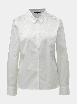 Biela košeľa s aplikáciou v striebornej farbe VERO MODA Zenia
