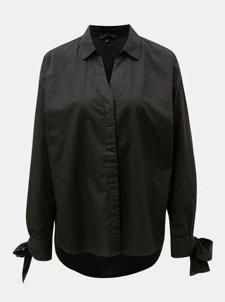Čierna oversize košeľa VERO MODA Flow