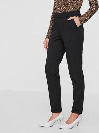 Pantaloni negri cu banda elastica in talie VERO MODA Maya