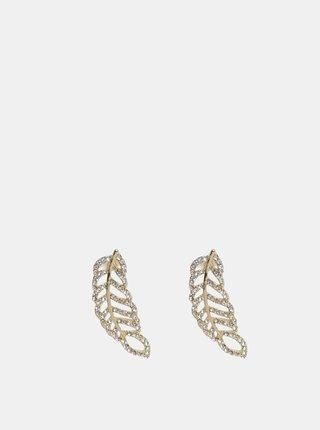 Cercei aurii in forma de pene Pieces Kourtney