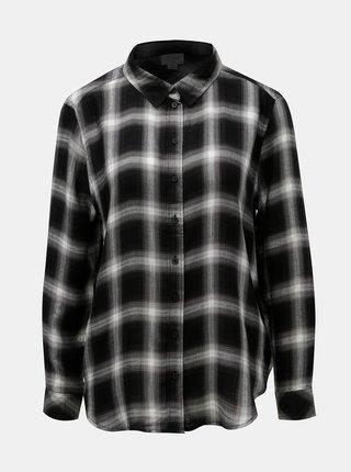 Bielo–čierna károvaná košeľa s metalickým vláknom Jacqueline de Yong Frans