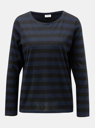 Čierno–modré pruhované basic tričko Jacqueline de Yong Rosa
