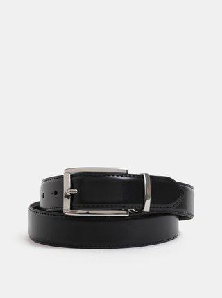 Černý kožený pásek s vyměnitelnými sponami v dárkovém balení Jack & Jones Belt Gift Box