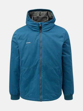 Jacheta barbateasca albastra de iarna cu gluga Ragwear