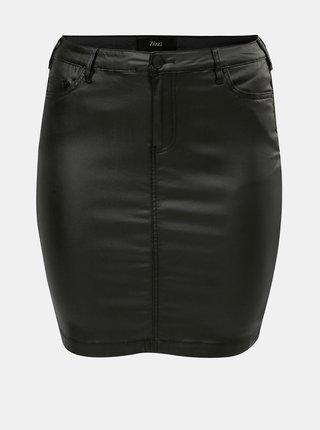 Čierna koženková sukňa Zizzi