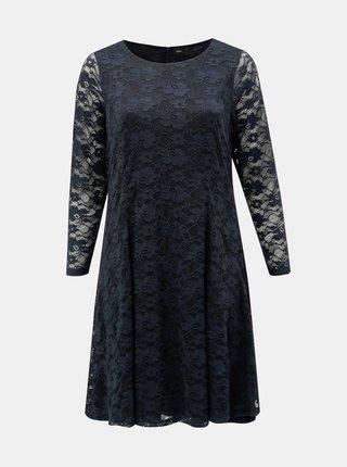 Tmavě modré šaty s dlouhým rukávem Zizzi