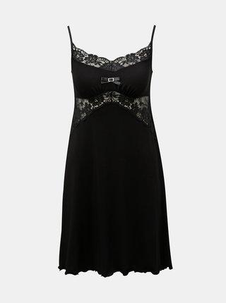 Camasa de noapte neagra cu detalii din dantela Eldar Bona