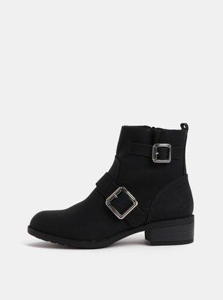 Čierne členkové topánky s detailmi v striebornej farbe Dorothy Perkins