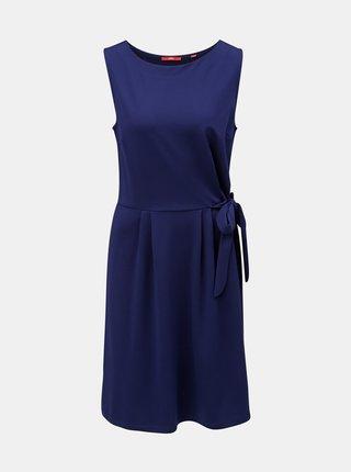 Rochie albastru inchis cu pliuri laterale s.Oliver