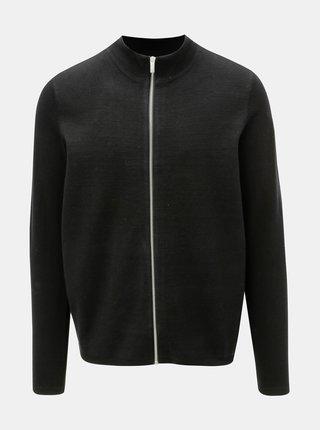 Pulover negru cu fermoar Burton Menswear London