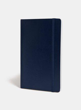 Tmavomodrý linajkový zápisník s mäkkou väzbou Moleskine A5