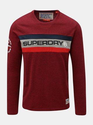 Tricou barbatesc rosu cu imprimeu pe maneca Superdry Trophy