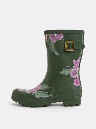 Cizme de ploaie kaki florale de dama Tom Joule Molly