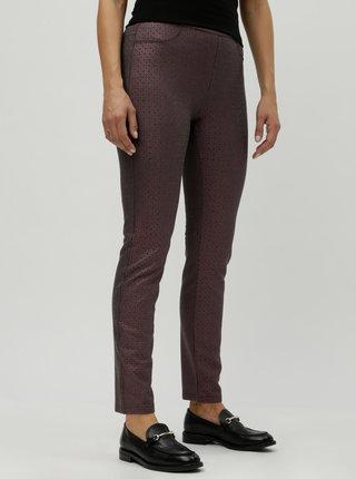 Pantaloni mov cu aspect peliculizat - DEHA