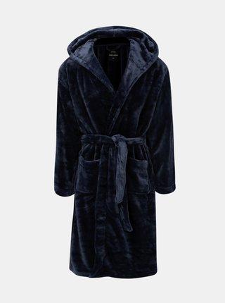 Halat de baie albastru inchis cu gluga Burton Menswear London Core