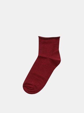 Vínové dámské kotníkové ponožky ZOOT