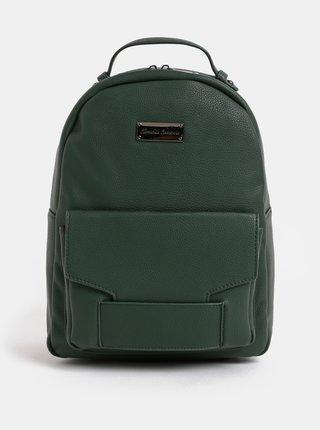 Tmavozelený batoh s predným vreckom Claudia Canova Majesty