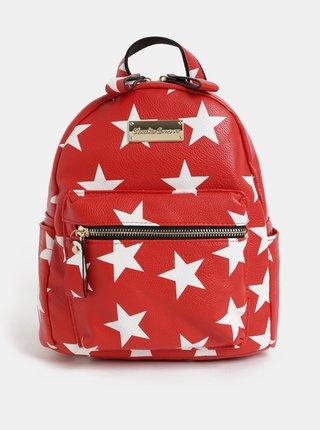 Bielo–červený batoh s motívom hviezd Claudia Canova Starlight