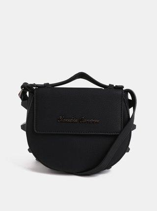 Čierna malá crossbody kabelka s ozdobnými detailmi Claudia Canova Regal