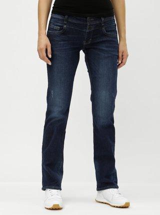 Modré dámské straight džíny s nízkým pasem QS by s.Oliver