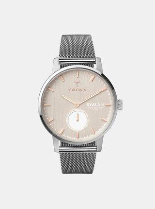Dámské hodinky s nerezovým páskem ve stříbrné barvě TRIWA Blush Svalan