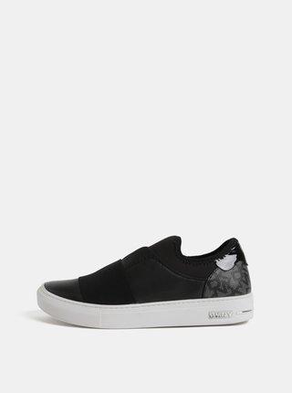 Černé kožené slip-on DKNY Clemson